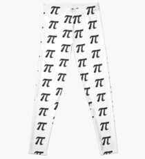 Pi Day Graphic Symbol Leggings