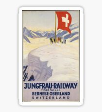 Vintage Switzerland T-Shirt Retro Travel Jungfrau Poster Sticker