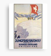 Vintage Switzerland T-Shirt Retro Travel Jungfrau Poster Metal Print