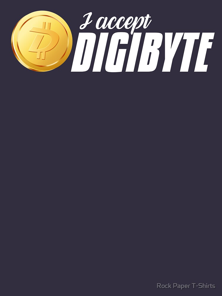 I Accept Digibyte (white) by rockpapershirts