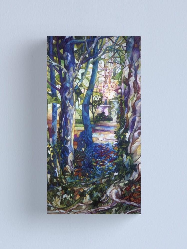 Alternate view of blue garden Canvas Print