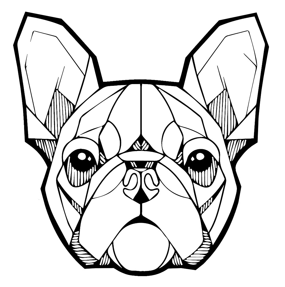 Geometric French Bulldog by viCdesign