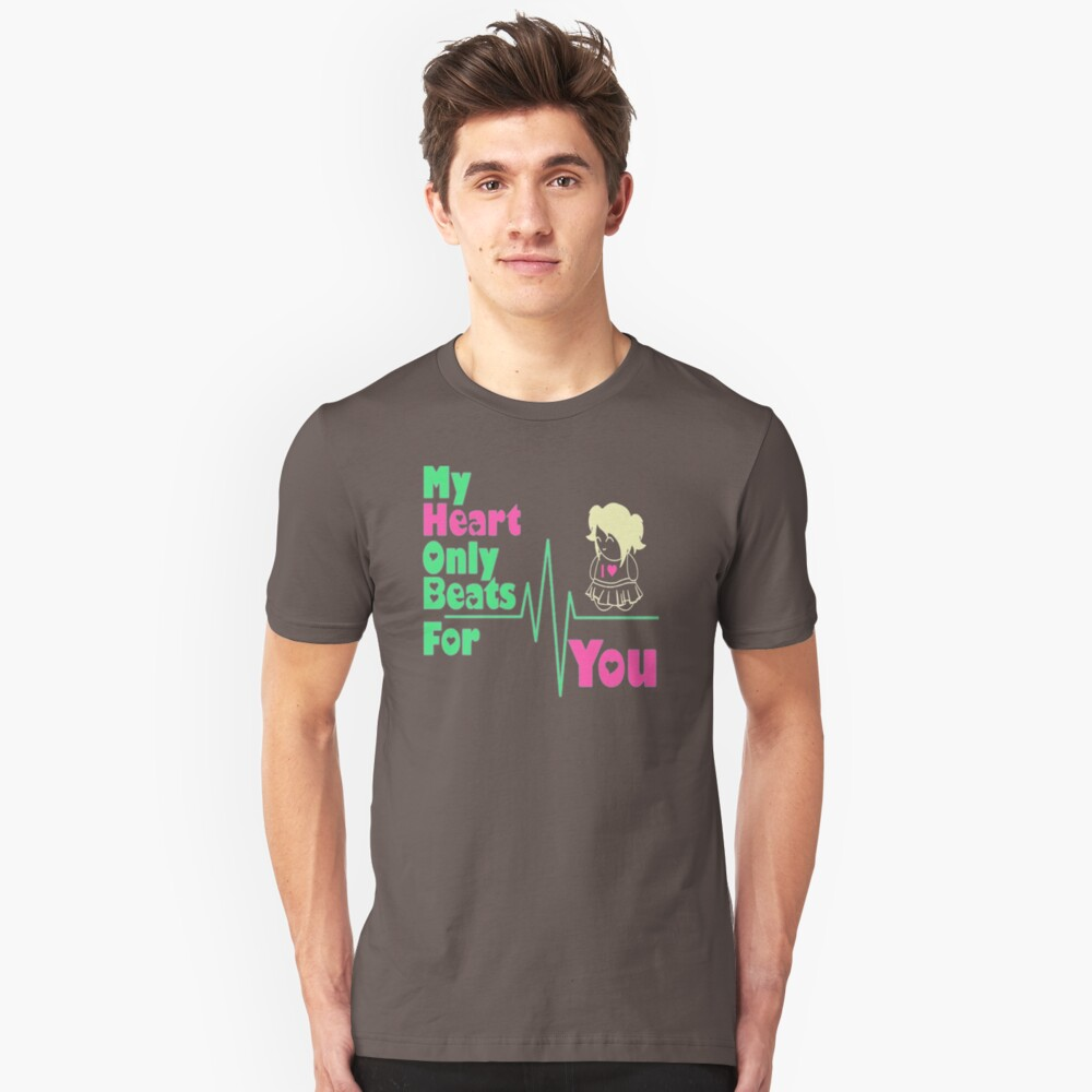 My Heart Only Beats For You US692 Trending Unisex T-Shirt Front