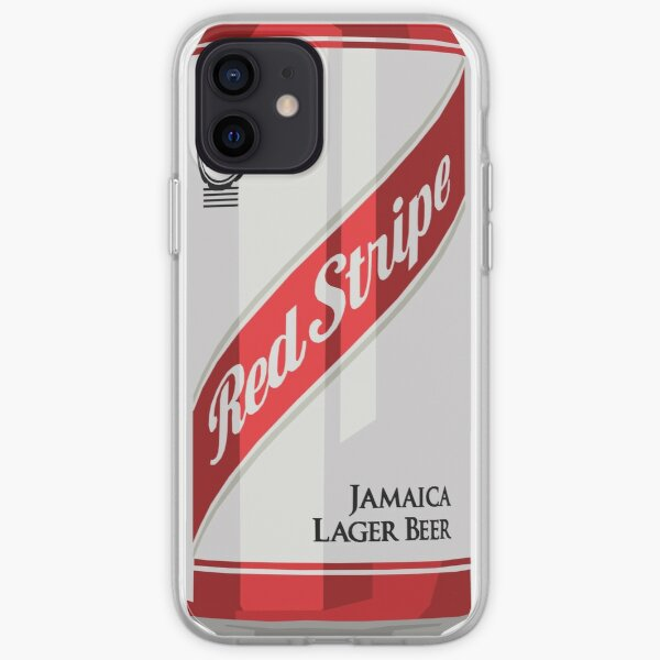 Red Stripe Can iPhone Soft Case