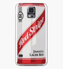 Red Stripe Can Case/Skin for Samsung Galaxy