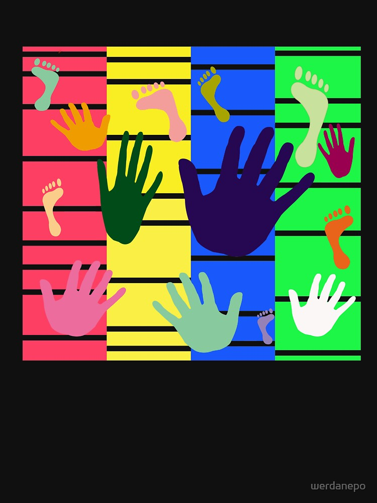 Colorful Hand and Foot Artwork Design    by werdanepo