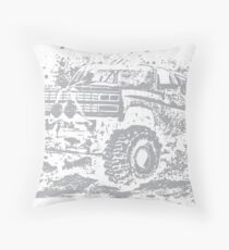 Mud Truck Bogger Mudding Throw Pillow