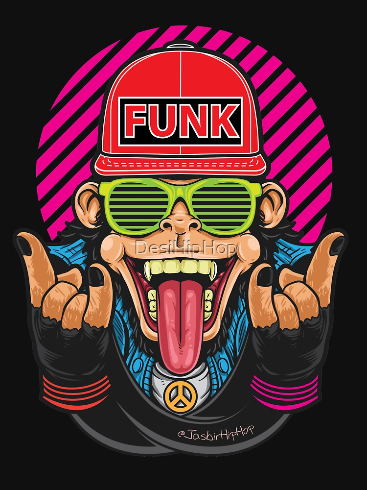 Monkey Funk - T-Shirts and Hoodies by DesiHipHop