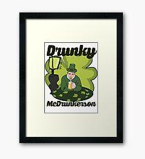 Drunky McDrunkerson Framed Print