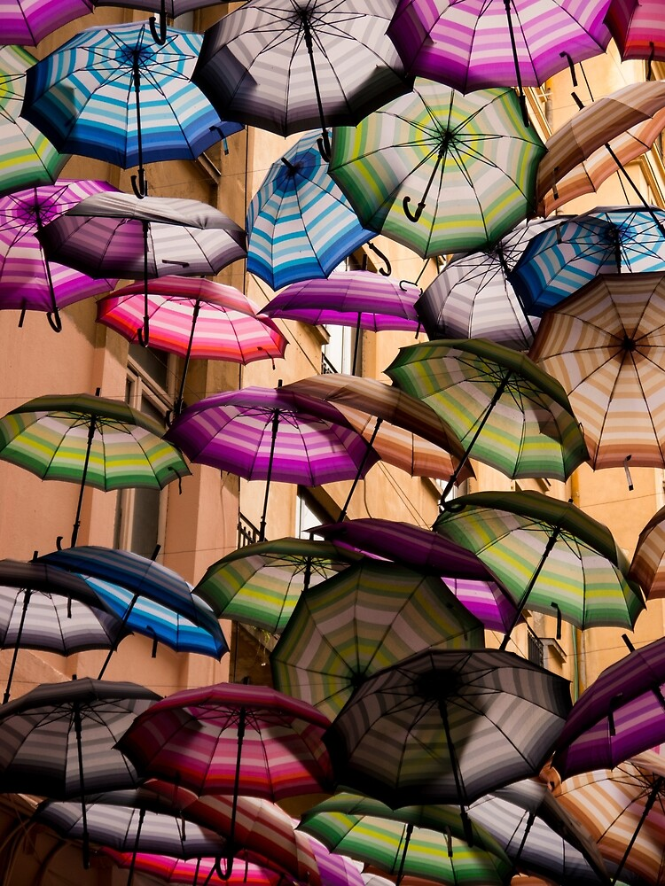 Colorful Canopy of Umbrellas by Rae Tucker