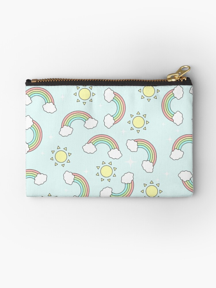 Kawaii Cute Rainbow Pastel Pattern by artbybee7
