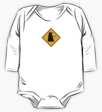 Dalek 1963 Silhouette Road Sign One Piece - Long Sleeve