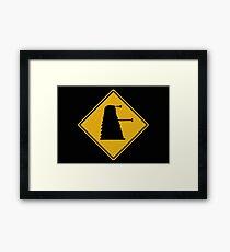 Dalek 1963 Silhouette Road Sign Framed Print