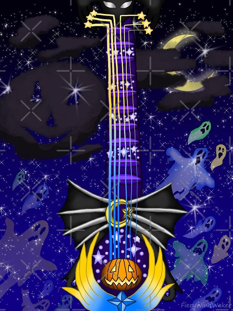 Fusion Keyblade Guitar #132 - Pumpkinhead & Star Seeker by FieryWindWaker
