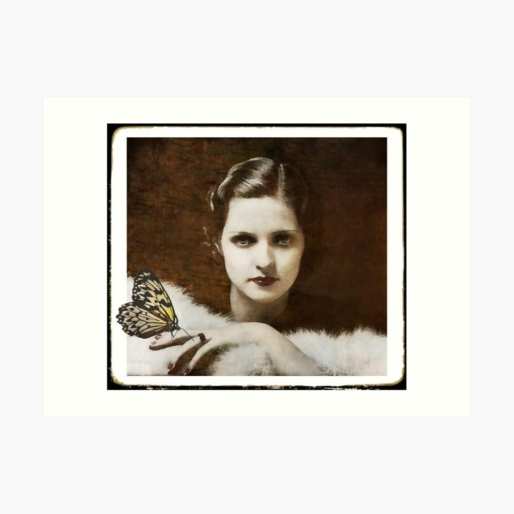 Madame Schmetterling Kunstdruck