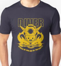 Blue and Gold Diver Unisex T-Shirt
