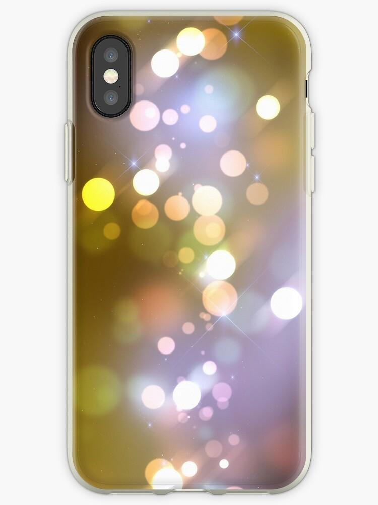 Gold Glitter iPhone Case by webeller