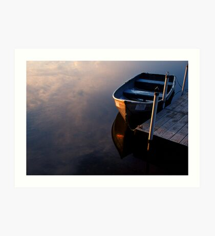 Boat, Lake Joseph, Catskills, New York Art Print
