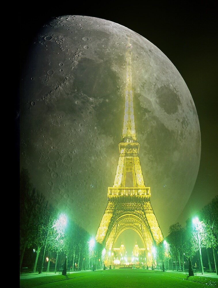 Moon On City. by Alexis Osuna