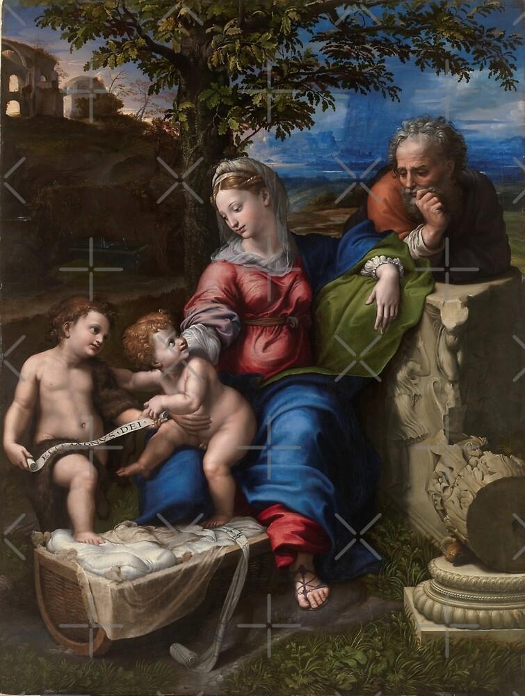 """Raffaello Sanzio da Urbino """"The Holy Family below the oak"""", 1518 by Alexandra Dahl"""