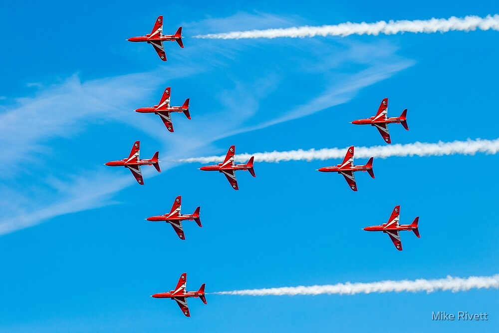 """RAF Red Arrows """"Spitfire"""" by Mike Rivett"""