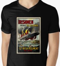 Irish WWI T-Shirt Ireland Britain Recruitment Vintage Poster Men's V-Neck T-Shirt