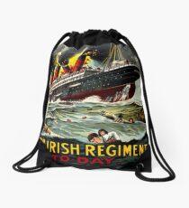 Irish WWI T-Shirt Ireland Britain Recruitment Vintage Poster Drawstring Bag