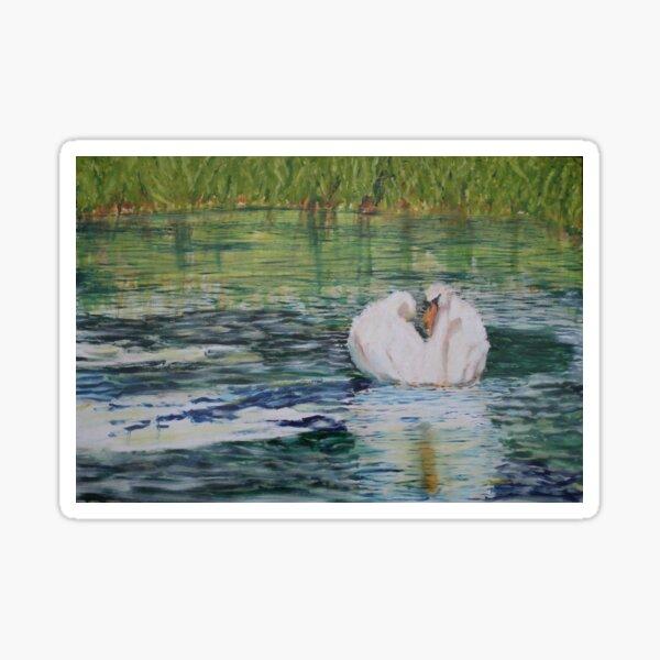River Nene Swan Sticker