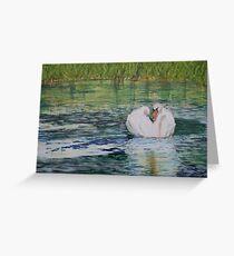 River Nene Swan Greeting Card