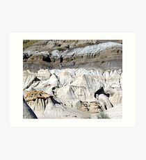 The Badlands, Alberta Art Print