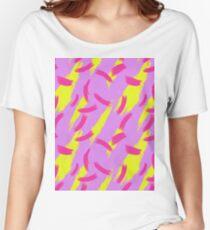 Neon Brush Stroke Pattern Women's Relaxed Fit T-Shirt