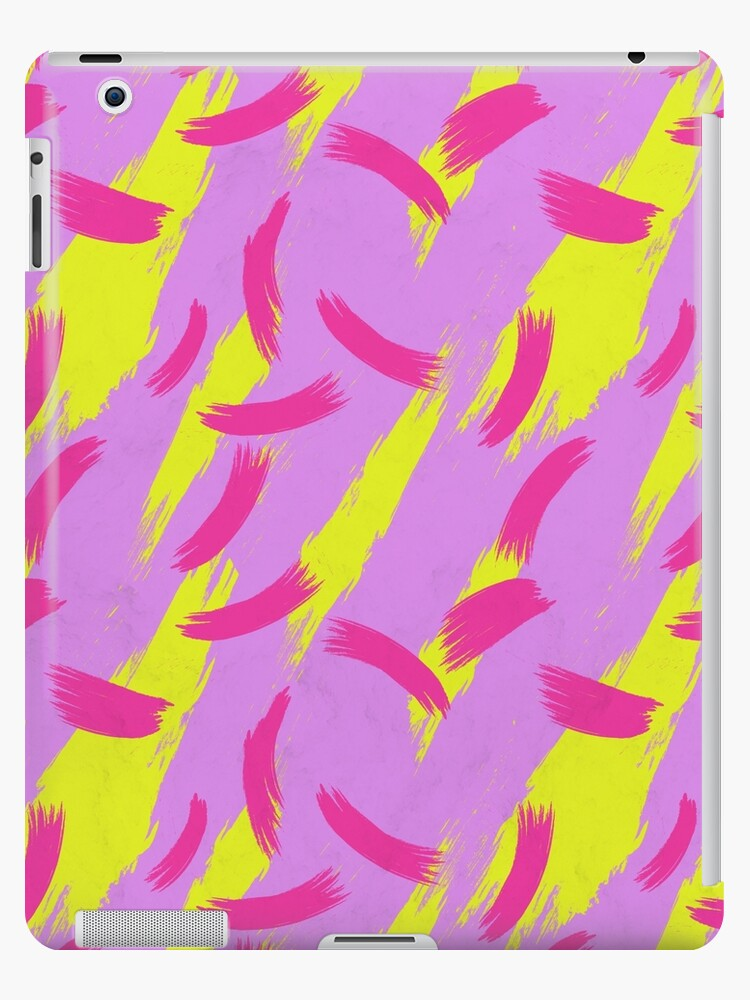 Neon Brush Stroke Pattern by tobiasfonseca