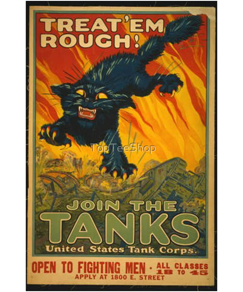Vintage WW1 T-Shirt USA World War 1 Military Retro Poster by TopTeeShop