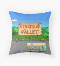 Stardew Valley Bus Throw Pillow