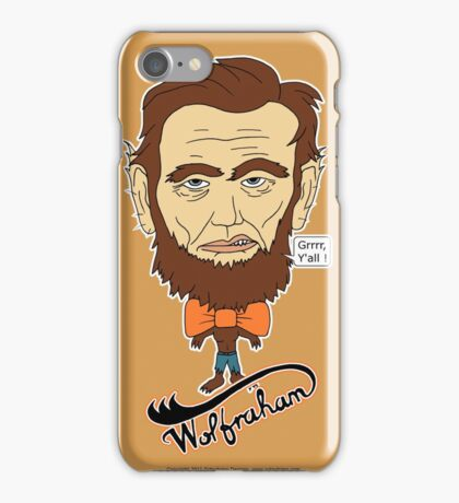Wolfraham Lincoln iPhone Case/Skin