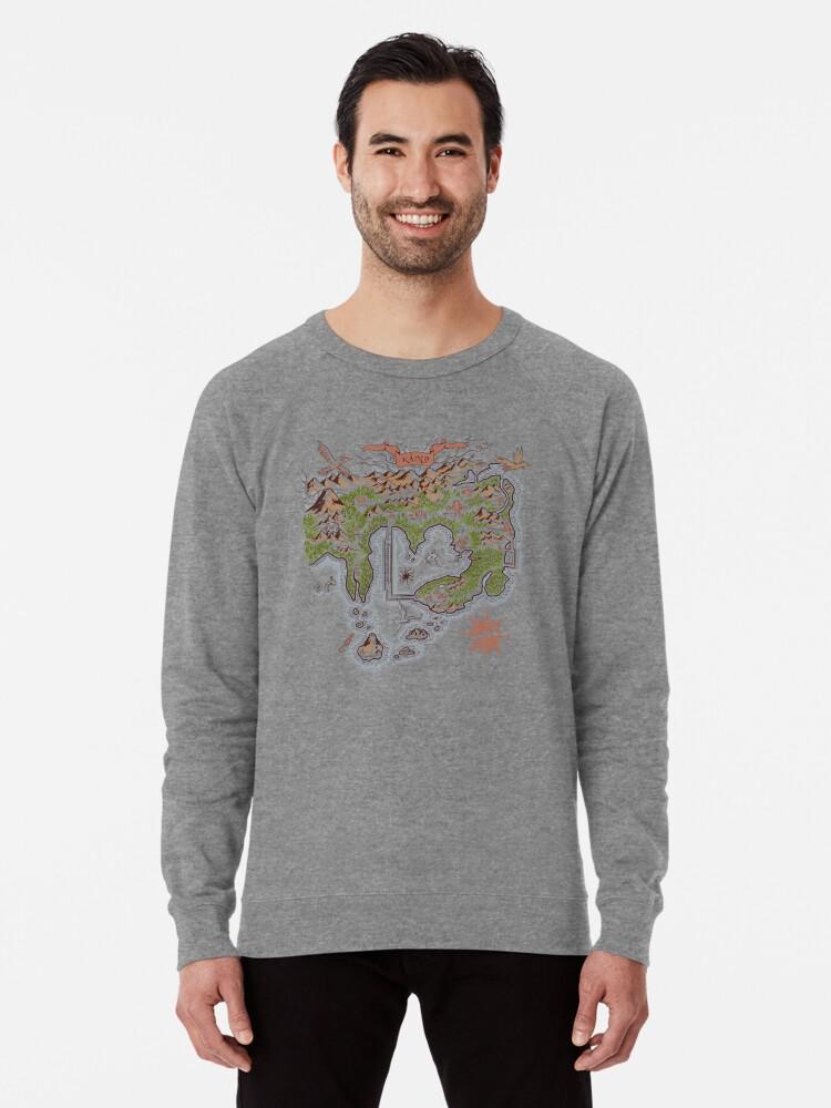 \'Kanto Map\' Lightweight Sweatshirt by MeleeNinja