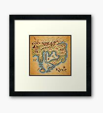 Kanto Map Framed Print