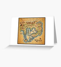Kanto Map Greeting Card