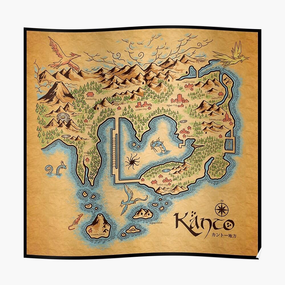 Kanto Map Poster