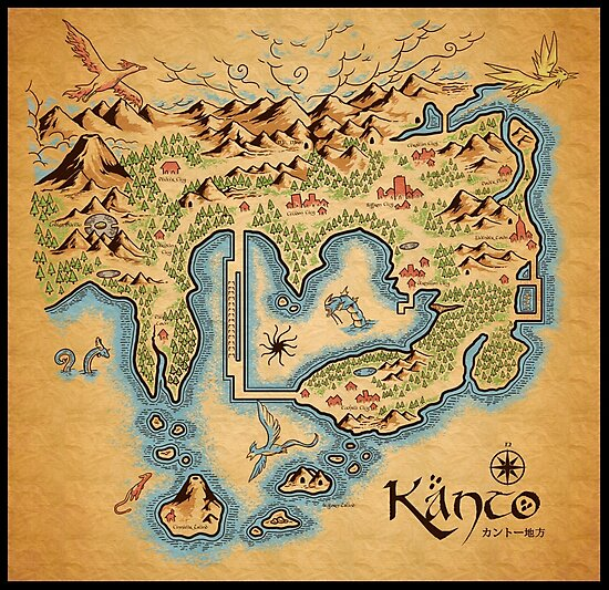 Kanto Map by MeleeNinja