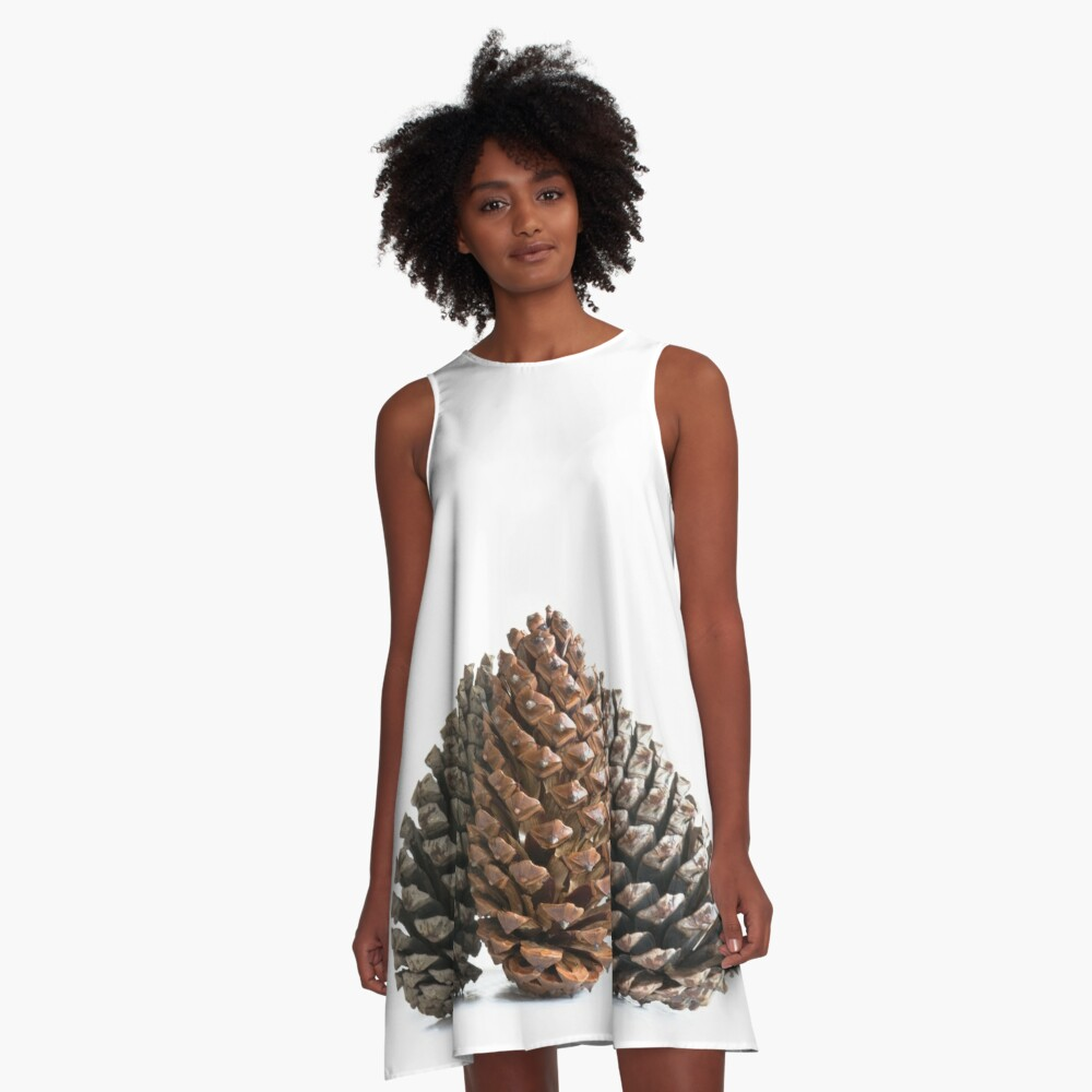 Three pinecones A-Line Dress Front