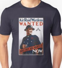 Vintage UK T-Shirt British WW2 Military War Air Raid Poster Unisex T-Shirt