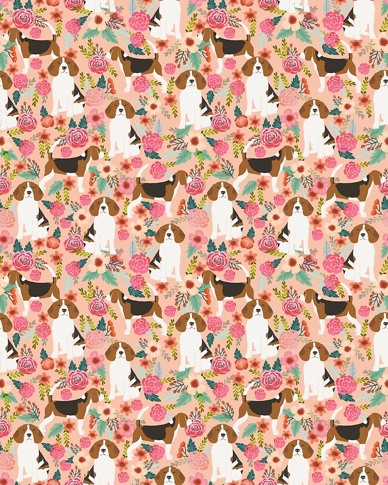 Beagle floral dog breed pattern pet gifts for beagle owners must have beagles by beaglemania