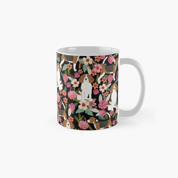 Beagle floral dog breed pattern pet gifts for beagle owners must have beagles Classic Mug