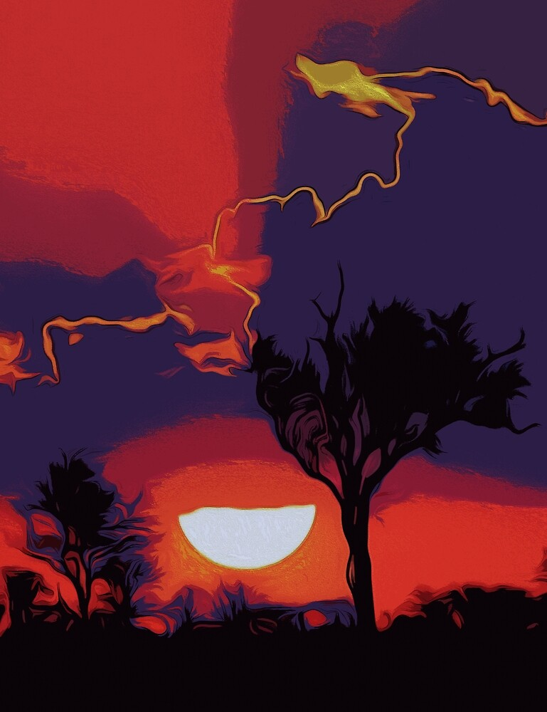 Flaming Skies by Andrea Mazzocchetti