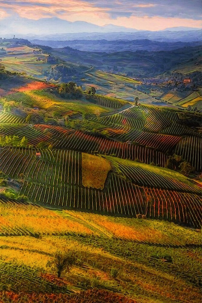Tuscany, italian wineyards  by Andrea Mazzocchetti