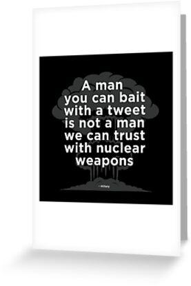 My Nuclear Button Is Bigger, Trump Tweet by Scott Sakamoto