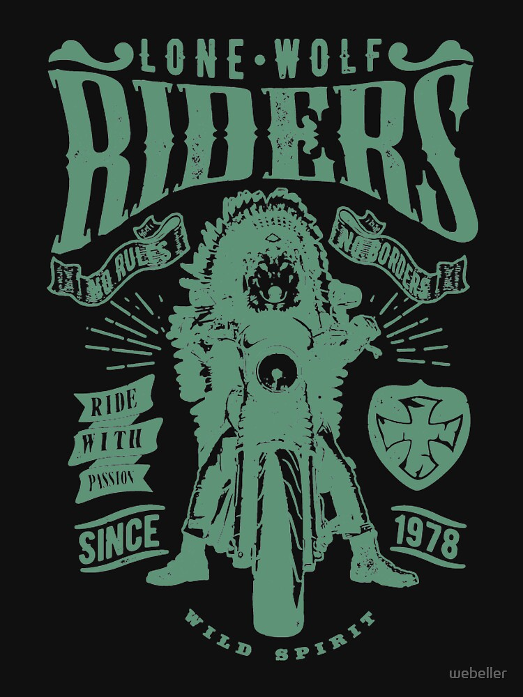 Lone Wolf Riders T-Shirt by webeller
