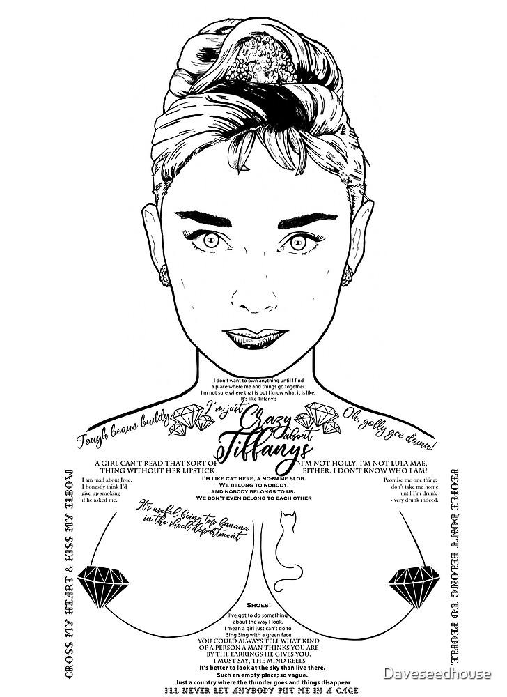 Audrey Hepburn - I'm Just Crazy About Tiffanys by Daveseedhouse