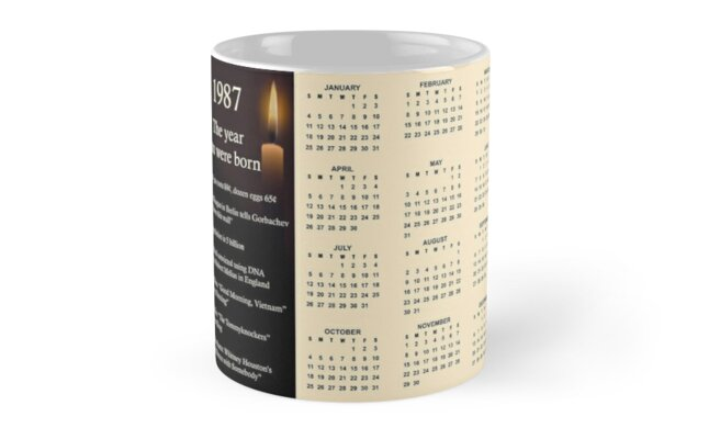 Born in 1987 Birthday Gift Mug by Colorwash